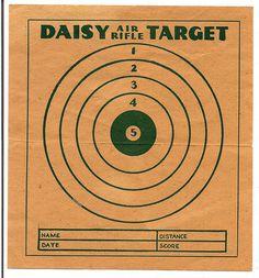 1950's Daisy Air Rifle Target