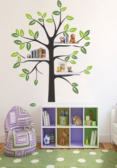 Vinyl Family Tree Wall Decal Bedroom Tree Decal With Shelves Simple Nursery  Trees Leaf Home Decals Wall Sticker Stickers Murals Mural 864 Part 24