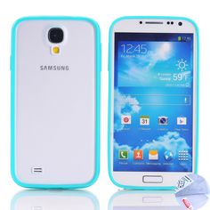 Amazon.com: Arbalest(TM) Hybrid Hard Back Cover Bumper Case for Samsung Galaxy S4 I9500 [*Not for Galaxy S3 I9300] - (Turquoise), with Arbalest Screen Protector For Samsung Galaxy S4 I9500 & Cleaning Cloth & ScreenGuard Applicator: Cell Phones & Accessories