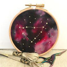 Star Sign Constellation Cross Stitch Kit #craft-kit #cross-stitch #cross-stitch-kit