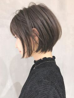 Pin on ショートボブ Bob Hairstyles For Fine Hair, Pixie Hairstyles, Short Hairstyles For Women, Pretty Hairstyles, Medium Hair Styles, Short Hair Styles, Bob Haircut With Bangs, Lilac Hair, Japanese Hairstyle