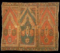 The Textile Museum 15th century Turkish saph prayer rug