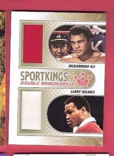 MUHAMMAD ALI TRAINING WORN BOXING TRUNKS & LARRY HOLMES WORN ROBE RELIC 10 MADE