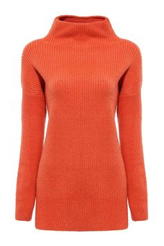 Orange Jumper with Roll Neck - US$29.95 -YOINS