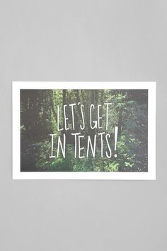 Leah Flores Let's Get In Tents Art Print #urbanoutfitters