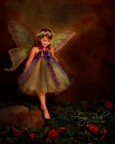 Aurea as a fairy princess...I don't know this beautiful girl, but what a wonderful picture.