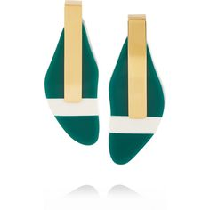 Marni Gold-plated resin earrings ($360) ❤ liked on Polyvore featuring jewelry, earrings, marni, gold plated drop earrings, post earrings, resin earrings and resin jewelry