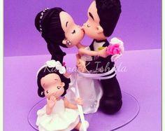 Noivinhos topo de bolo- com filhos