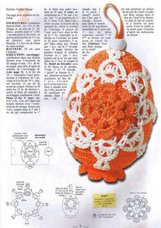 crocheted Easter eggs Crochet Books, Crochet Art, Crochet Round, Thread Crochet, Cute Crochet, Lace Knitting, Crochet Easter, Easter Crochet Patterns, Holiday Crochet