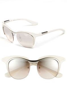 Prada Retro Sunglasses in Ivory | Nordstrom