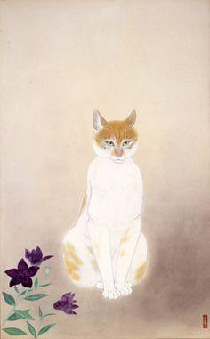 Kobayashi Kokei (Japan, 1883-1957) - Cat, 1946 - Yamatane Museum of Art, Tokyo