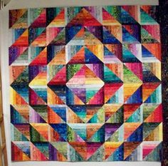 "This is Anita's ""Self Mitered Log Cabin"" quilt design from her last book"