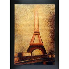 Georges Seurat 'The Eiffel Tower' Hand Painted Framed Art