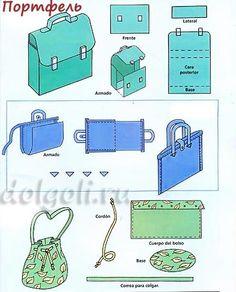 выкройки портфеля и сумочек