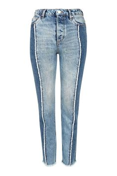 MOTO Panel Straight Leg Jeans - Jeans - Clothing - Topshop