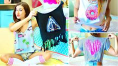 I WANT TO DO THIS!!! DIY T-Shirt Ideas Inspired By Tumblr | Easy & Cute Shirts For Summer!
