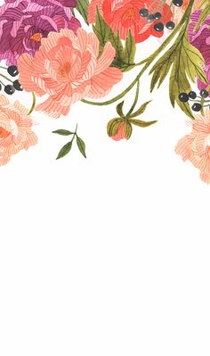 IPhone/Samsung Wallpaper. Simple Floral