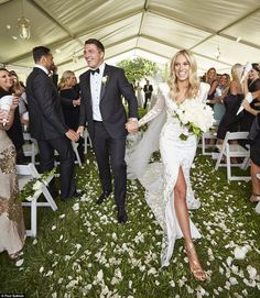 Here comes the bride: Phoebe Hooke and Sam Burgess have tied the knot in a lavish ceremony surrounded by friends and family