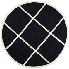 Safavieh Handmade Cambridge Moroccan Black Wool Diamond Pattern Rug - Overstock™ Shopping - Great Deals on Safavieh Round/Oval/Square