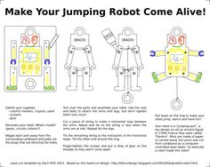 Robot Jumping Jack Instructions (nuts & bolts version)