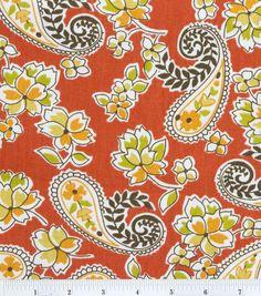 45'' Home Essentials Print Fabric- Tiziri Tangerine at Joann.com