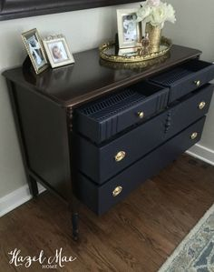 Redesigning My Own Dresser Furniture Makeover, Diy Furniture, Painted Furniture, Refinished Furniture, Epoxy, Milk Paint, Drawer Fronts, Dresser As Nightstand, Bedroom Storage