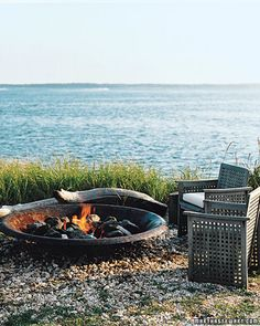 fireplace by the sea