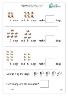 Adding Numbers up to 10 Pets