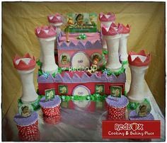 Tinkerbell castle cake