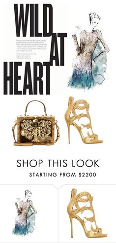"""""""Dressed up but wild at heart"""" by hashabiah ❤ liked on Polyvore featuring Giuseppe Zanotti and Dolce&Gabbana"""