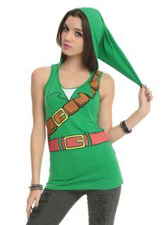 The Legend Of Zelda Link Girls Hooded Tank Top | Hot Topic