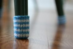Oh adorable. Chair sock tutorial. Stop scratching that wood floor! http://www.simplynotable.com/2011/featured-flashdance-chair-socks/