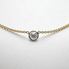 12 carat 4 prong solitaire basket diamond pendant necklace 14k estate 12 carat bezel set diamond necklace solid 14k gold eragem aloadofball Choice Image