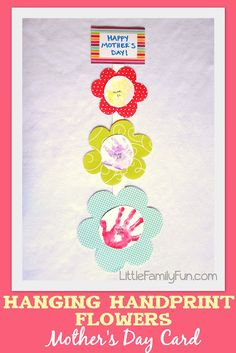 A fun way to say Happy Mother's Day! Make this fun craft with handprints!