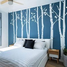 SunForest High White Birch Tree Vinyl Wall Decals Nursery Forest Family Tree Wall Stickers Art Decor Murals – Set of 8 N.SunForest High White Birch Tree Vinyl Wall Decals Nursery Forest Family Tree Wall Stickers Art Decor Murals – Set of 8 Birch Tree Mural, Birch Tree Wall Decal, Family Tree Wall Sticker, Tree Wall Murals, Birch Tree Wallpaper, Boys Wallpaper, Wallpaper Murals, Tree Wall Art, 3d Wall