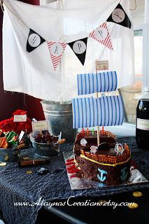 This is a great party - lots of fun ideas!!! Alayna's Creations: 31 Days: Day 29 - Pirate Birthday Party