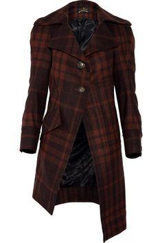 Limpish wool-blend tartan coat by Vivienne Westwood Anglomania