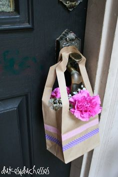 """May Day Paper Bag """"Baskets"""" (also good for Acts of Random Kindness)"""