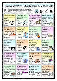 Grammar Meets Conversation: When was the last time...? (11) - Asking for Past Information
