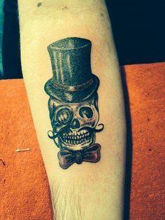Victorian gentleman skull design