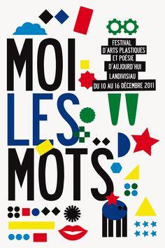 """Séverine Lorant - le jardin graphique identité graphique du Festival """"Moi les mots"""""""