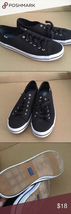 Keds sneakers Keds women's black shoes. Worn once. Simple and classic. Keds Shoes Sneakers