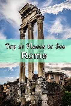 "Rome, the Eternal City is a ""must destination"" for all travelers. A city with so much history that no other places have. Ruins dating back to the era of the ancient Roman Empire, beautiful Catholic churches in every second corner, and some of the most impressive squares of the world. Herein, we collected the 21 places we think you can't miss out on, when visiting this Rome. Click to read more!"