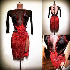 #abrahammartinez #newdress #latin #blackandred #cristal #lightsiam #swarovski #design #designer #cristalfringes #forsale FOR SALE!!