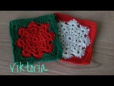 Piastrella all'uncinetto - fiocco di neve - Granny Square - YouTube