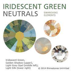 Swarovski Iridescent Green neutral color theme from Rhinestones Unlimi