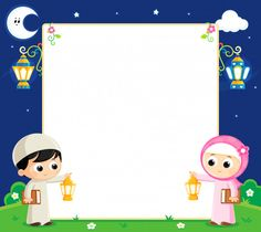 Illustration about Boy and girl are Celebrating Ramadan and carrying Lanterns and between them an empty white board. Illustration of islam, iftar, fanous - 83410040 Eid Crafts, Ramadan Crafts, Ramadan Decorations, Wallpaper Wa, Cartoon Wallpaper, Wallpaper Space, Wallpaper Ramadhan, Eid Mubarak Wallpaper, Eid Photos