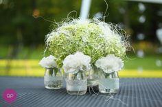les moineaux bouquet champêtre pot à yaourt en verre lace tape masking tape ton nature