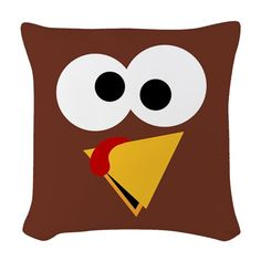 Funny Thanksgiving Turkey Face Pillow Inserts, Pillow Covers, Happy Turkey Day, Thanksgiving Turkey, Designer Throw Pillows, Diy Crafts, Pure Products, Funny, Face