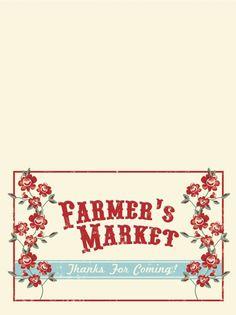 the shop sweet lulu blog: Farmer's Market Favor Bag Printable